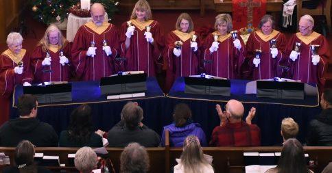 hand bell choir Christmas Eve 2017